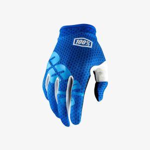 Gants 100% iTRACK bleu