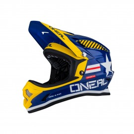 Casque O'NEAL Fury Afterburner Fidlock bleu