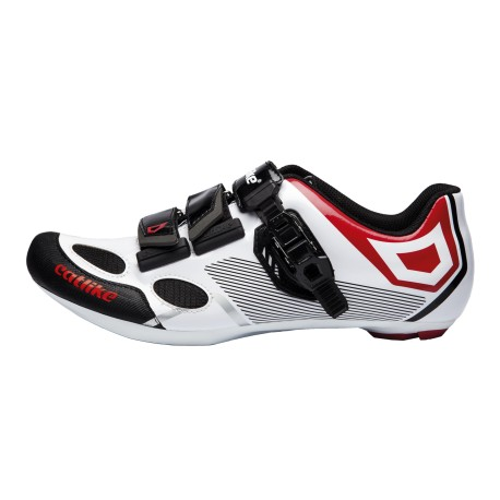 Chaussures route CATLIKE Sirius blanc/rouge