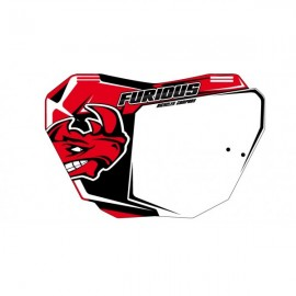 Plaque frontale BMX FURIOUS BICYCLES rouge
