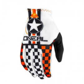 Gants enfant O'NEAL Matrix Wingman blanc/orange